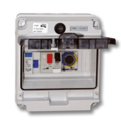 Cuadro electrico piscina bomba con for Caja cuadro electrico