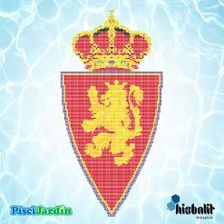 escudo real zaragoza gresite piscina