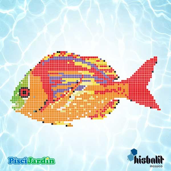 Dibujo pez colisa roja en gresite para piscina piscijardin for Dibujos para piscinas en gresite