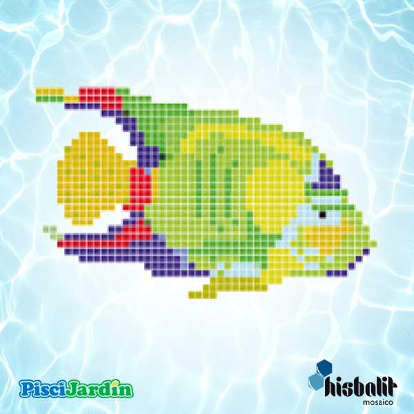 Dibujo pez verde en gresite para piscina piscijardin for Dibujos para piscinas en gresite