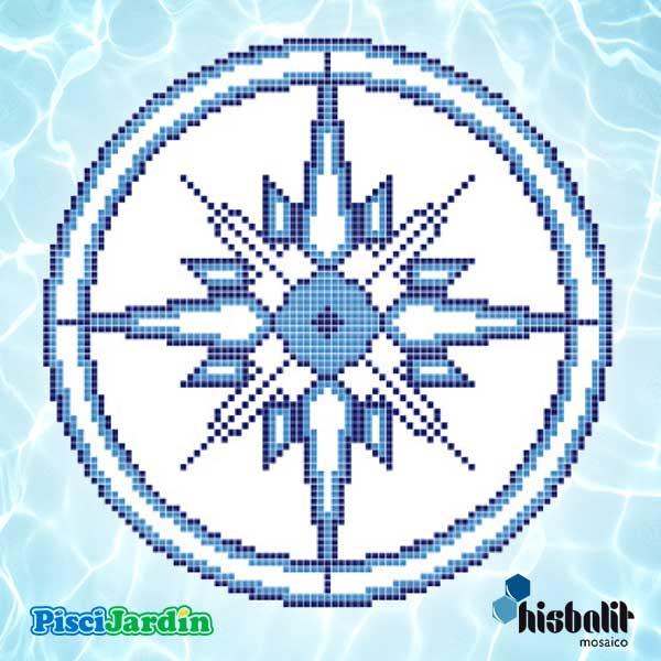 Dibujo rosa azul y blanca en gresite para piscina for Dibujos para piscinas en gresite