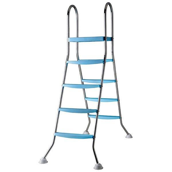 Escalera GRE INOX para piscina desmontable 142cm | PISCIJARDIN