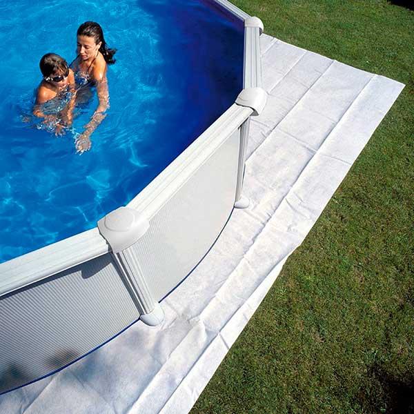 Manta protectora de suelo piscinas gre piscijardin for Suelo para piscina desmontable