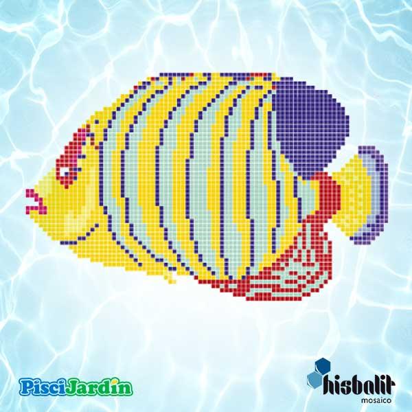 Dibujo pez colores en gresite para piscina piscijardin for Dibujos para piscinas en gresite